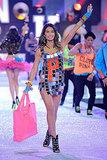 Lily Aldridge had fun dancing on stage at the 2011 Victoria's Secret Fashion Show.