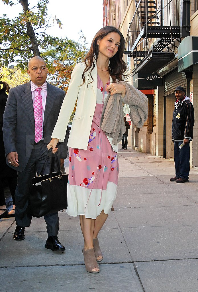 Katie Holmes arrived at The Rachael Ray Show in NYC.