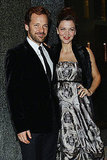 Maggie Gyllenhaal with Peter Sarsgaard at the Armani Hotel Opening in Milan.