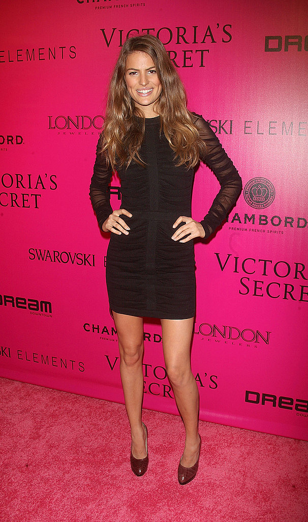 Cameron Russell at the Victoria's Secret afterparty.