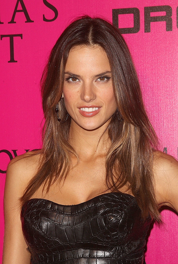 Alessandra Ambrosio went for a sleek look.