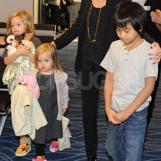 Shiloh, Vivienne, and Maddox Jolie-Pitt walked in the ...