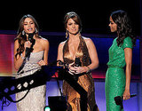 Sofia Vergara, Zoe Saldana and Lucero presented at the 2011 Latin Grammy Awards.