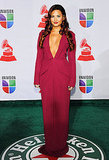 Demi Lovato attended the 2011 Grammy Awards in a plunging dress.