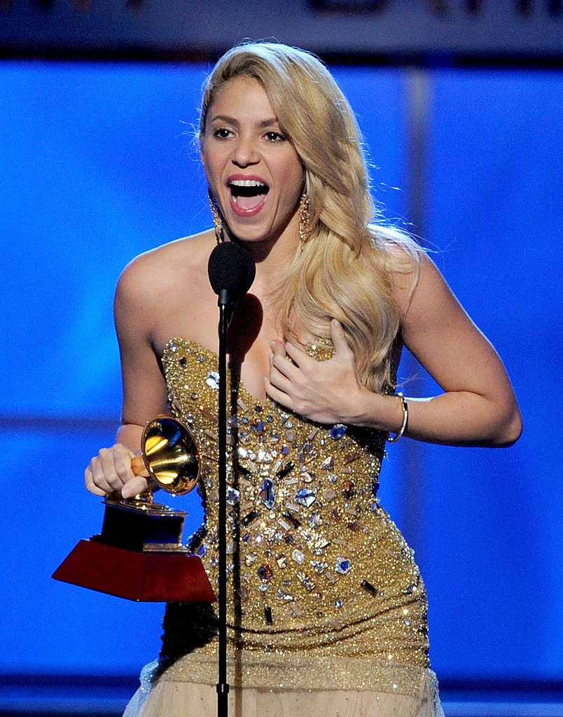 Shakira thanked everyone for her Latin Grammy.