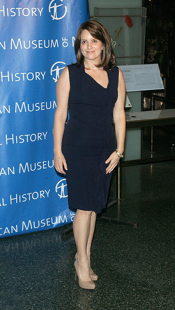 Tina Fey kept it simple in nude heels.