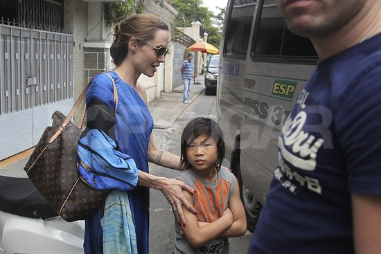 Angelina and Brad Bring Pax Back to Visit His Native Vietnam