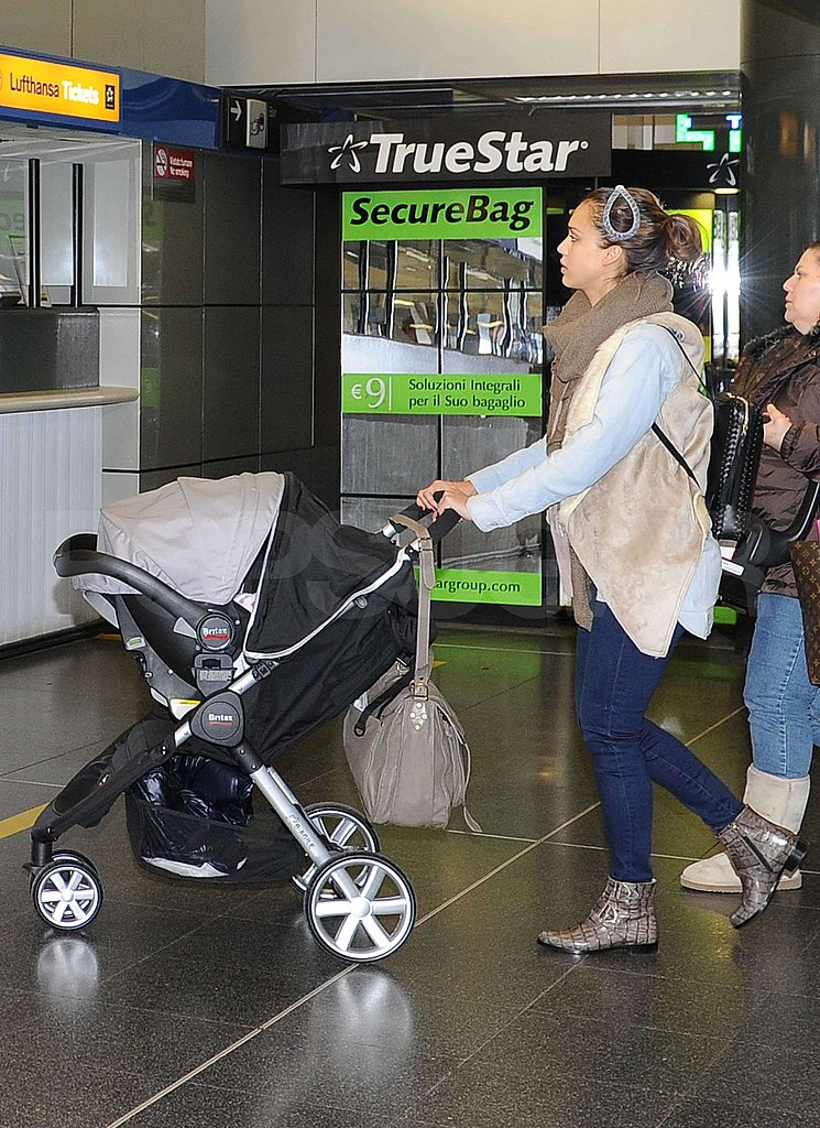 Jessica Alba and Adorable Haven Say Ciao to Milan