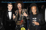 Justin Bieber, Jaden Smith, and LMFAO's Redfoo posed together backstage.