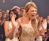 Taylor Swift screamed for joy at the American Music Awards.