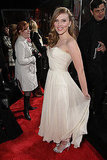 Scarlett Johansson showed off a white chiffon dress on the red carpet in 2008.
