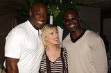Scarlett Johansson smiled with her The Island costars Michael Clarke Duncan and Djimon Hounsou in 2005.