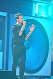 Adam Levine sang at the American Music Awards.