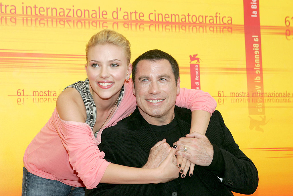 Scarlett Johansson gave John Travolta a big hug at the 2004 Venice Film Festival.