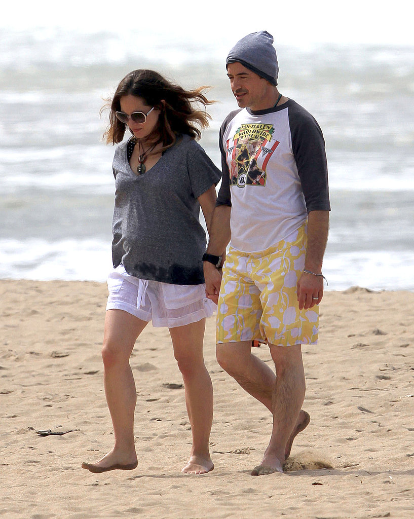 Robert Downey Jr. and his pregnant wife, Susan, in Kauai.