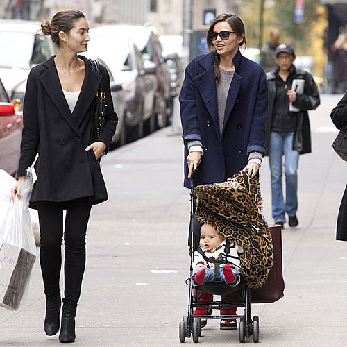 Miranda Kerr Pictures in NYC With Flynn Bloom Lily Aldridge