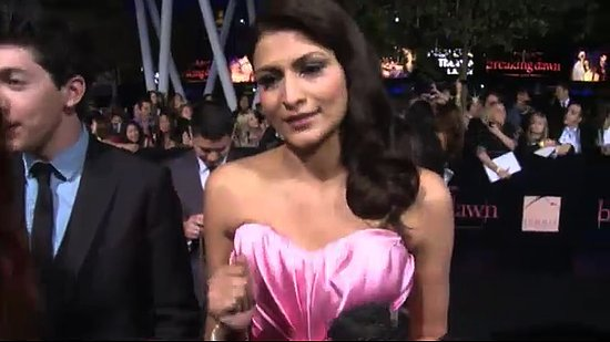 Video: Twilight's Tinsel Korey Talks Bella's Wedding Dress at Breaking Dawn Premiere!