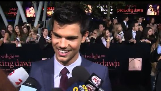Video: Taylor Lautner Gushes About Handprint Ceremony With Robert and Kristen