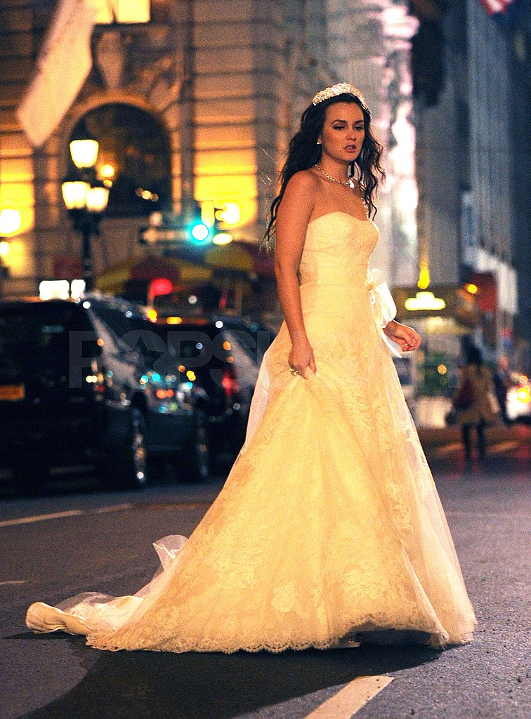 Blair Waldorf wore a strapless gown.