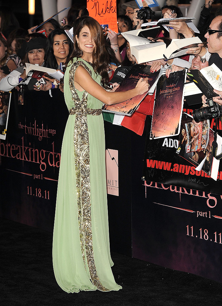 Kristen Stewart Wows in Skin-Baring Slit Dress Alongside Rob and Costars at Breaking Dawn Premiere