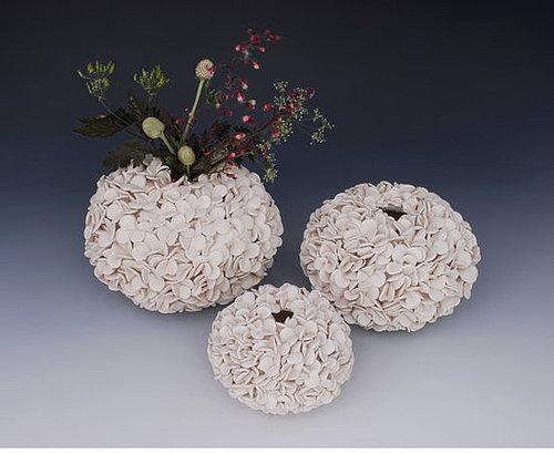textured pottery vase ceramic art white by WhiteEarthStudio