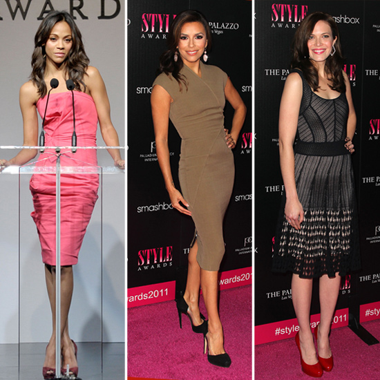 Newly Single Zoe Saldana Hits the Hollywood Style Awards With Mandy, Eva, and More