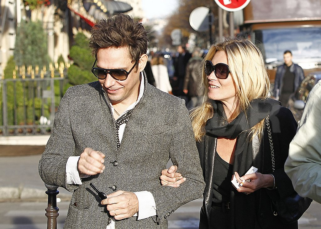 Kate Moss passed on a smile to Jamie Hince.