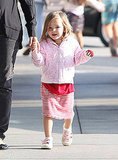 Seraphina Affleck showed off her walking skills.