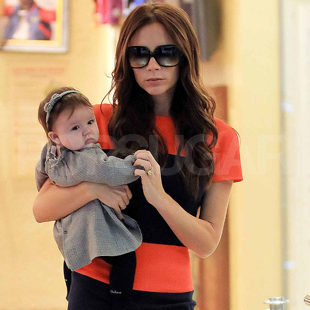 Victoria Beckham with Harper Beckham in NYC.