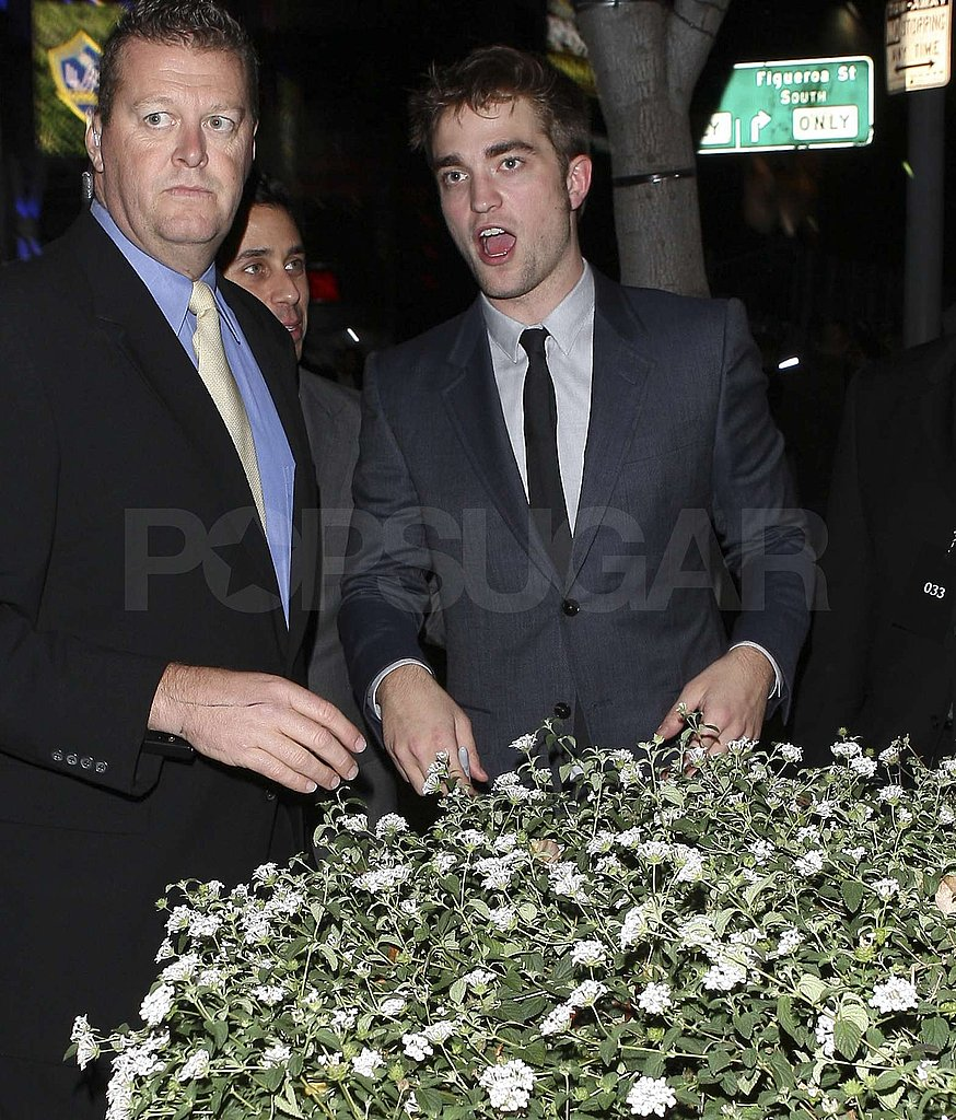 Robert Pattinson was in downtown LA for his premiere and afterparty.