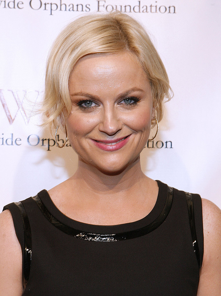 Amy Poehler went for a chic black dress at an NYC event.