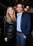 Jon Hamm was joined by his girlfriend Jennifer Westfeldt.