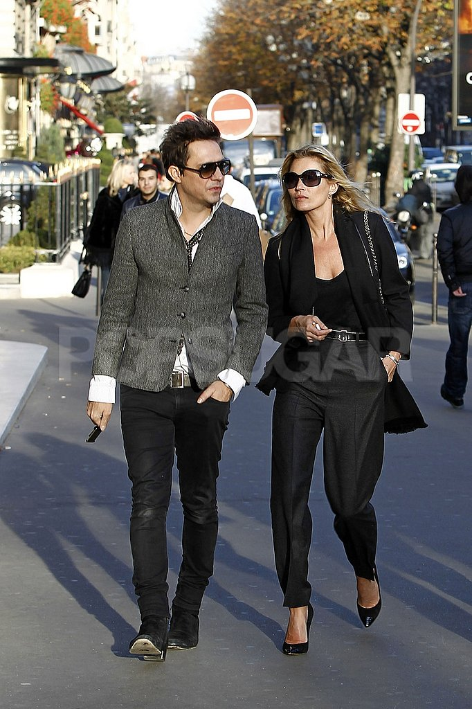 Kate Moss and Jamie Hince walked and talked.