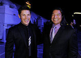 Alex Meraz and Gilm Birmingham toasted their wolf pack at the Breaking Dawn afterparty.