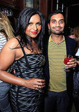 Mindy posed for a photo with Aziz inside the soiree.