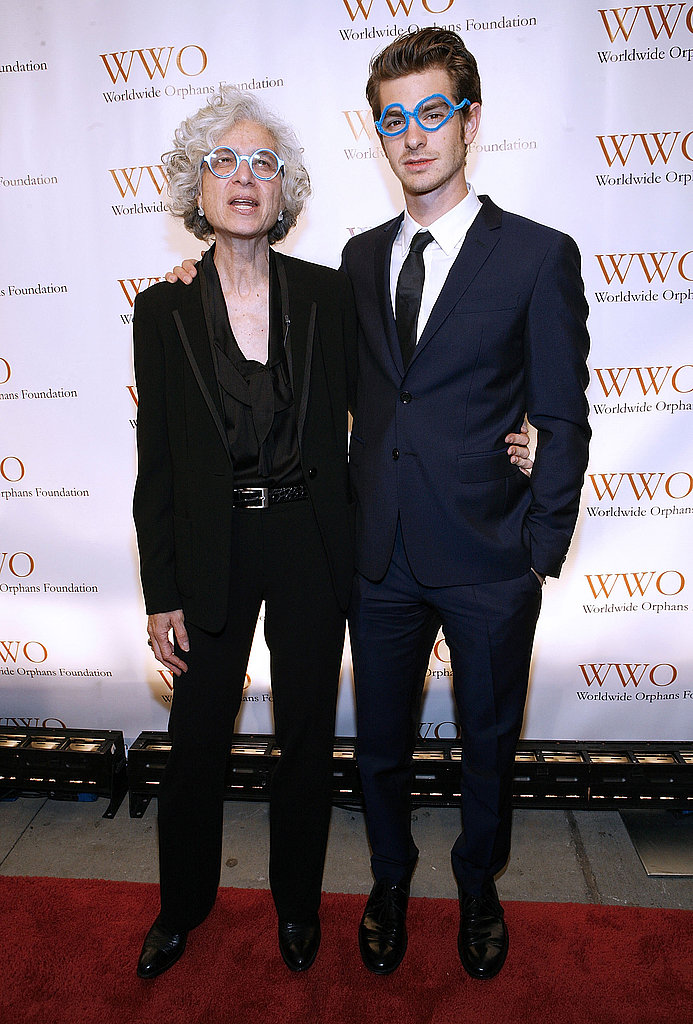 Jane Aronson and Andrew Garfield stepped out together at a fundraiser in NYC.
