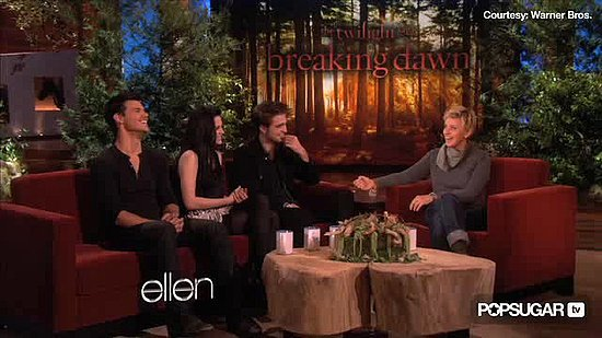 "Video: Robert Pattinson & Kristen Stewart Talk ""Baby-Making"" on Ellen"