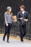 Emma Stone and Andrew Garfield took their food to go.