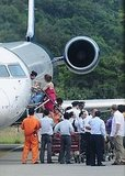 Angelina Jolie and the Kids Board a Private Plane in Vietnam