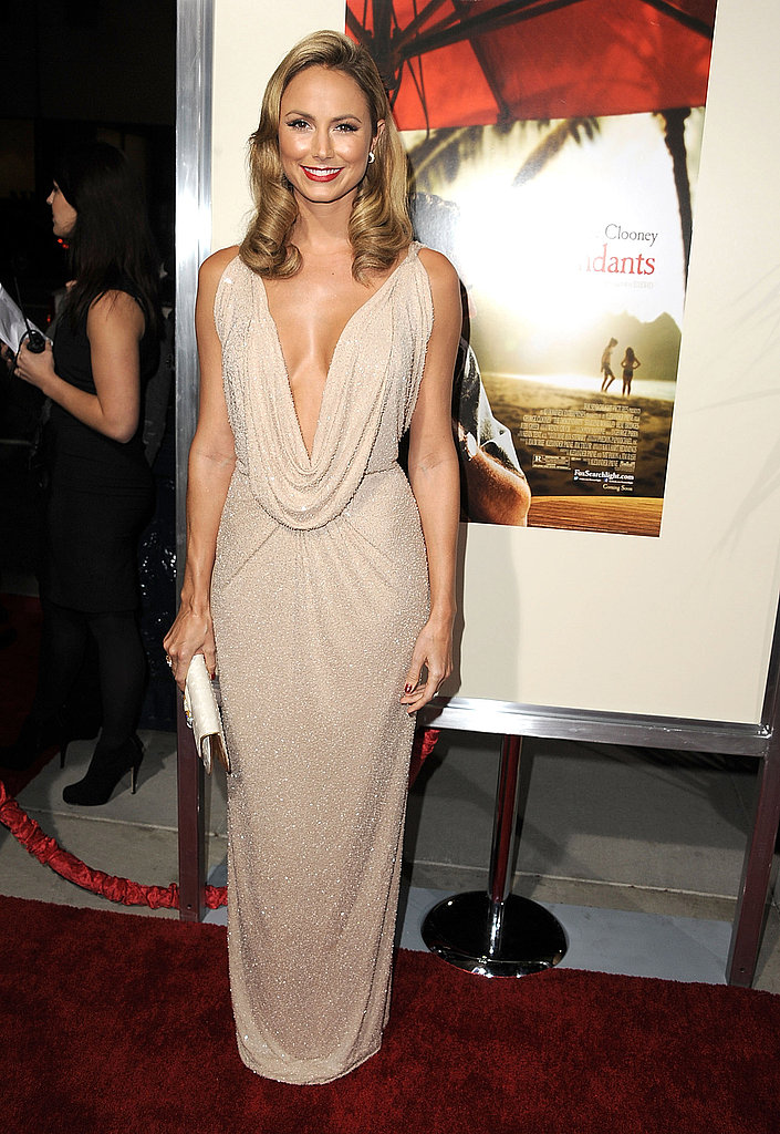 Stacy Keibler in a statuesque gown.
