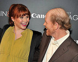 Bryce and her father, Ron Howard, hugged on the red carpet.