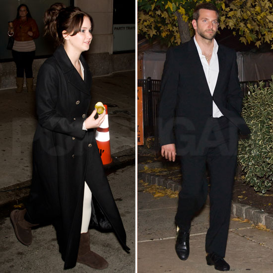 Sexiest Man Bradley Cooper and Hunger Games' Jennifer Lawrence Step Out Together on Set