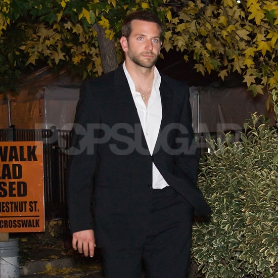 Bradley Cooper left the set of The Silver Linings Playbook in Philadelphia.