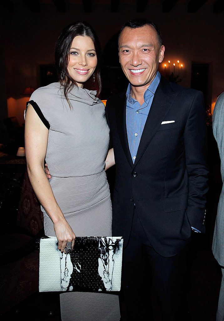 Jessica Biel cozied up to Elle creative director, Joe Zee.