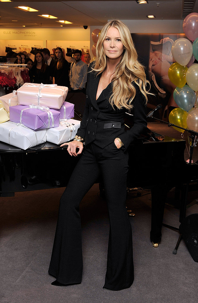 Elle Macpherson celebrated the 10th anniversary of Elle Macpherson Intimates at Selfridges in London on Nov. 15.