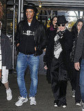 Madonna and her boyfriend Brahim Zaibat arrived for a Kabbalah service in New York on Nov. 12.
