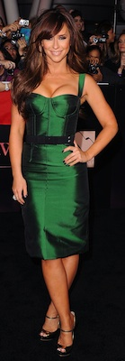 Jennifer Love Hewitt in Green Dolce & Gabbana Dress