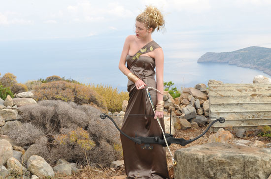 Jay Manuel loved Laura's stances throughout her shoot and compared her to Greek goddess Athena.  Photo courtesy of CW