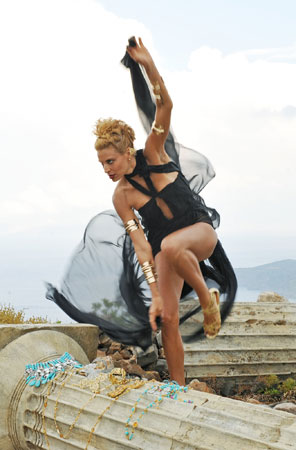Lisa's sport was the hurdles, but she was initially hesitant to jump during her photos because the judges have criticized her for it in the past.  Photo courtesy of CW