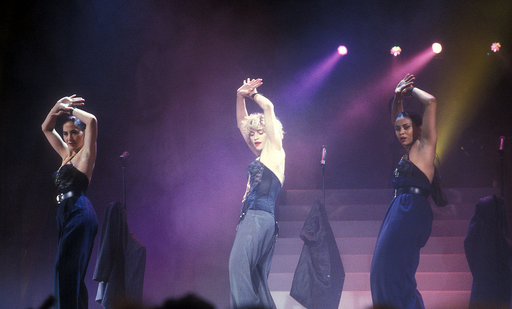 Madonna performed at the AMAs in a black bustier in 1998.